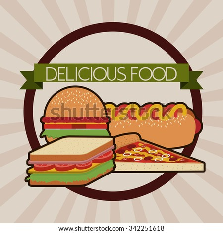 deliciousand good  food design, vector illustration eps10 graphic  - stock vector