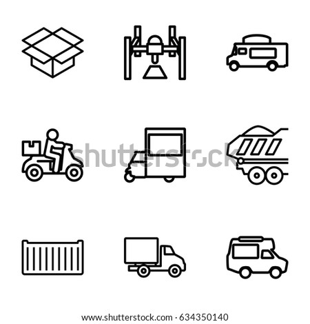 Deliver icons set. set of 9 deliver outline icons such as van cargo box  sc 1 st  Shutterstock & Shipping Icons Set Set 16 Shipping Stock Vector 641433361 ... Aboutintivar.Com