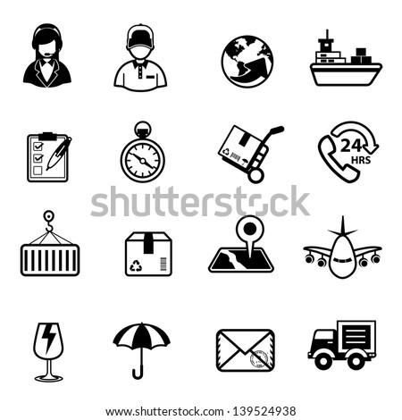 Delivery and Logistic Shipping icons Vector - stock vector