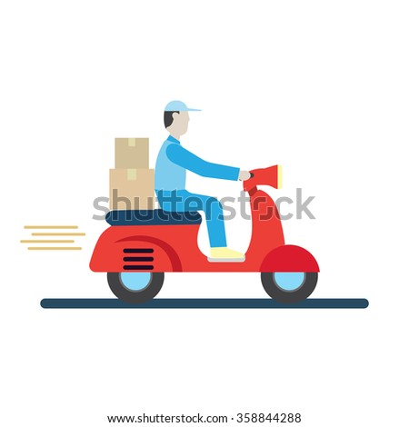 Delivery Boy - stock vector