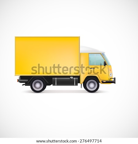 Delivery Car. White commercial vehicle, vector illustration for your business - stock vector