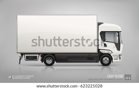 white food truck hidetailed vector template stock vector 596464754 shutterstock. Black Bedroom Furniture Sets. Home Design Ideas
