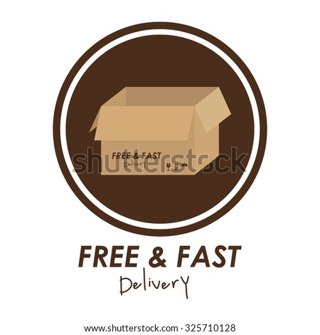 Delivery concept with shipping icons design, vector illustration eps 10
