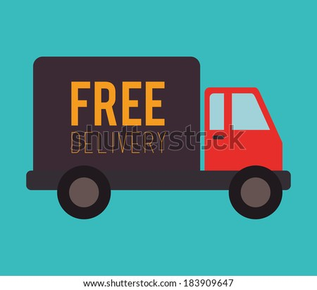 Delivery design over blue background, vector illustration