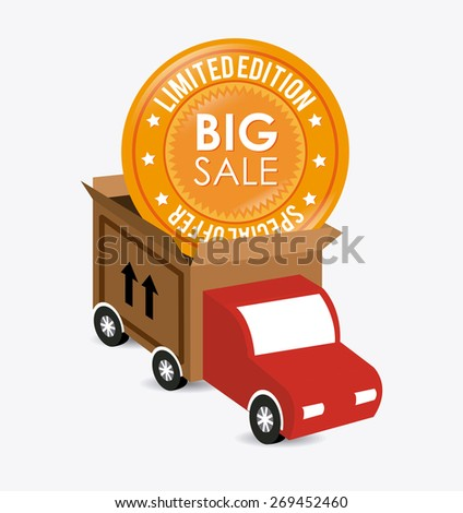 Delivery design over white background, vector illustration. - stock vector