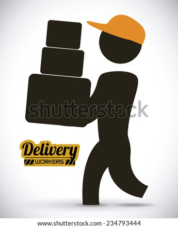 delivery  design , vector illustration - stock vector