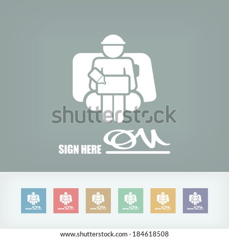 Delivery document sign icon - stock vector