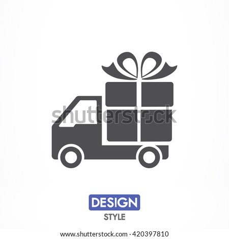 Delivery gift icon, Delivery gift pictograph, Delivery gift web icon, Delivery gift icon vector, Delivery gift icon eps, Delivery gift icon illustration, Delivery gift icon picture,  - stock vector