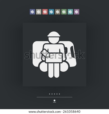 Delivery icon - stock vector