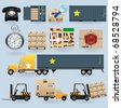Delivery icons set for web design - stock photo