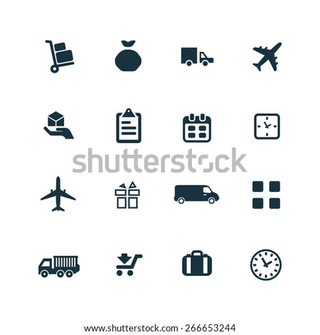 delivery Icons Vector set