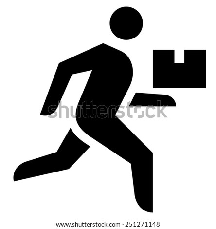 Delivery man icon - stock vector