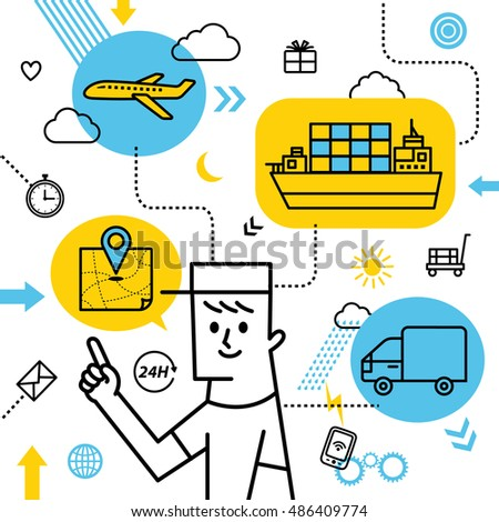 Delivery man image.vector