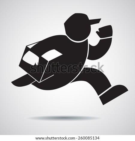 Delivery man.- vector illustrator - stock vector