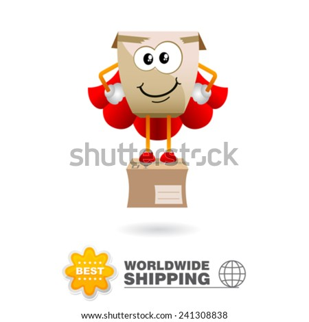 Delivery mascot. Shipping concept design vector. - stock vector