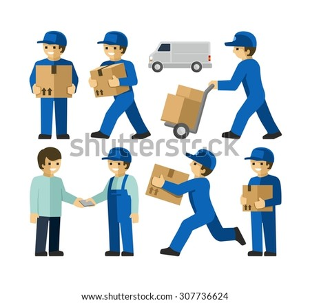 Delivery Men  - stock vector
