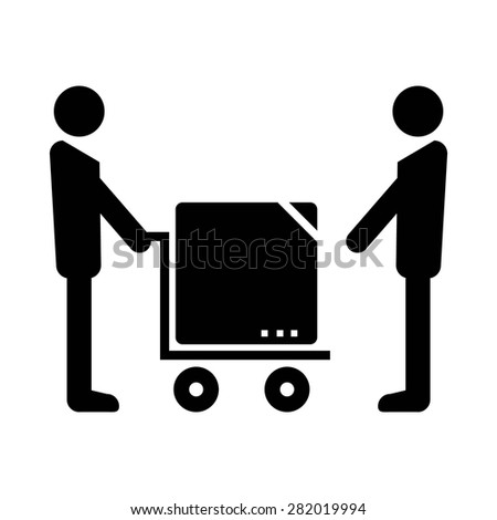 Delivery Package Icon - stock vector