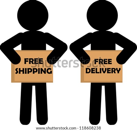 Delivery postman - stock vector