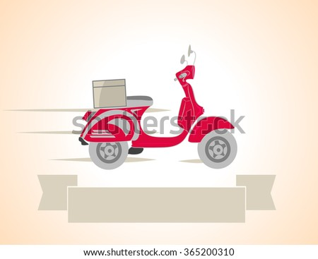 Delivery scooter vector illustration - stock vector