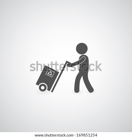 delivery services symbol on gray background  - stock vector