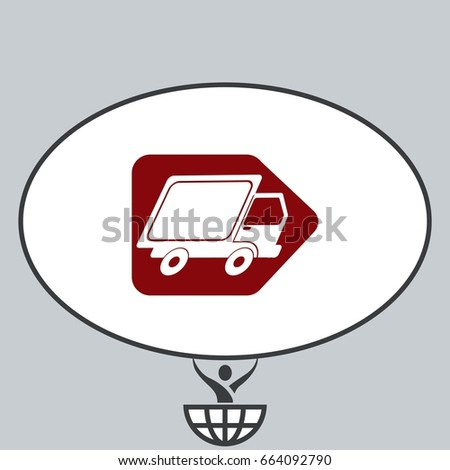 Delivery sign icon, vector illustration.