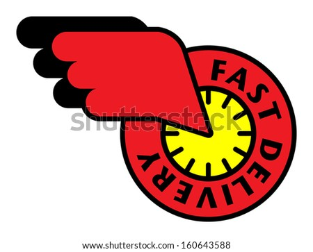 Delivery sign or symbol, vector illustration - stock vector