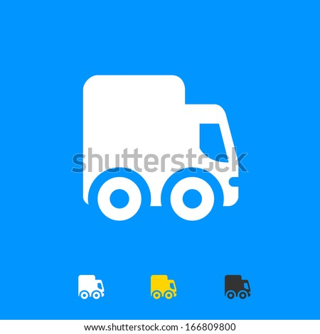 Delivery truck icon - stock vector
