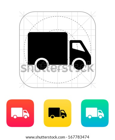 Delivery Truck icon. Vector illustration. - stock vector