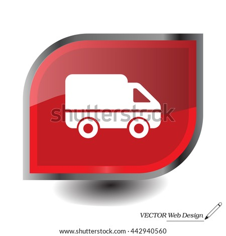 Delivery Truck icon. Vector illustration.