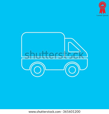 Delivery Truck line icon. Vector illustration. - stock vector
