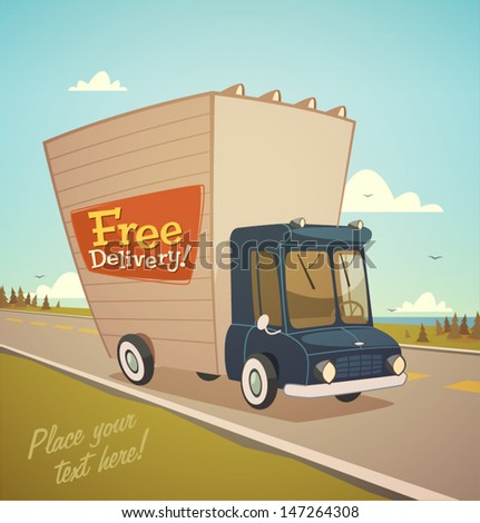 Delivery truck. Shipping concept. - stock vector