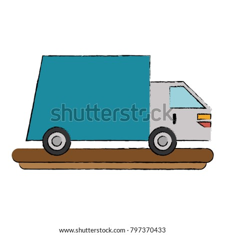 Delivery truck symbol