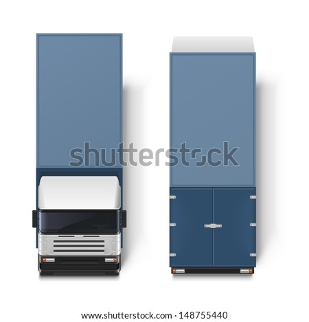 delivery truck vector - stock vector