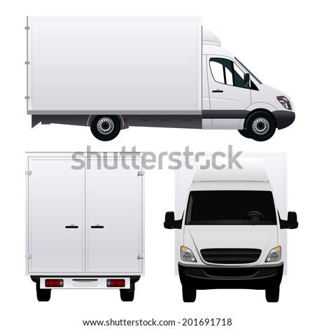 Delivery Van - stock vector