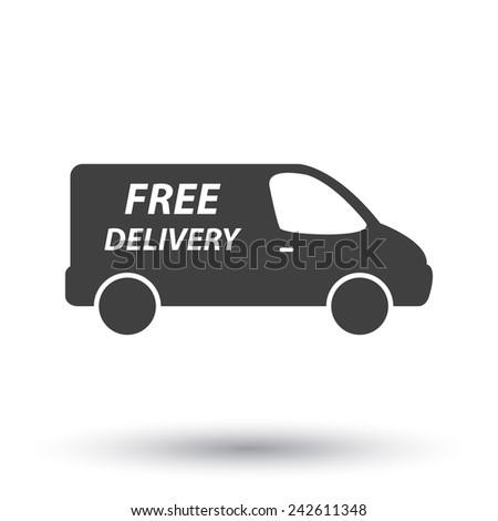 delivery van - stock vector