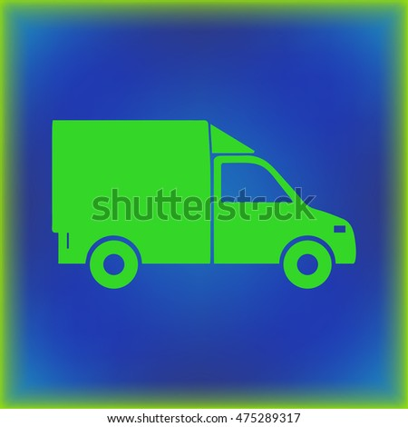 Delivery Van Isolated. lorry flat design style