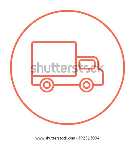 Delivery van line icon. - stock vector