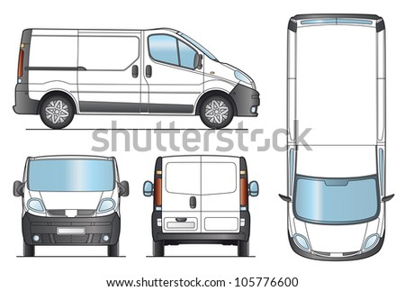Delivery Van Template - Layout for presentation - Vector EPS-8. - stock vector