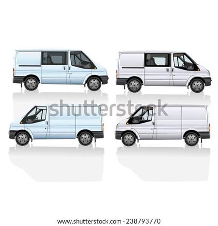 Delivery van vector isolated on white background. - stock vector
