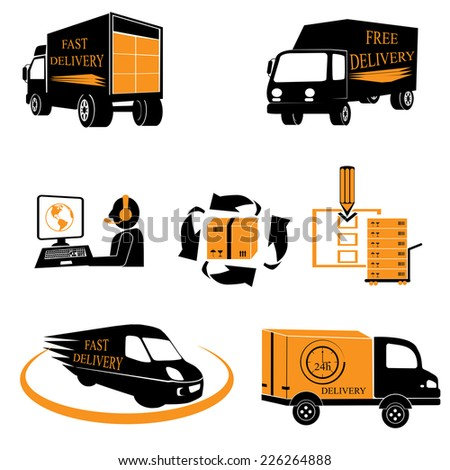 Delivery. Vector illustration - stock vector