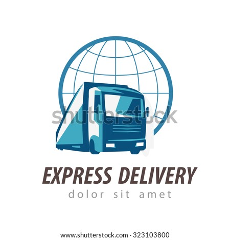 delivery vector logo design template. transportation or truck icon - stock vector