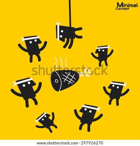 Demand higher than Supply - stock vector