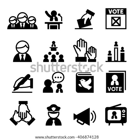 Democracy , Election, icon - stock vector