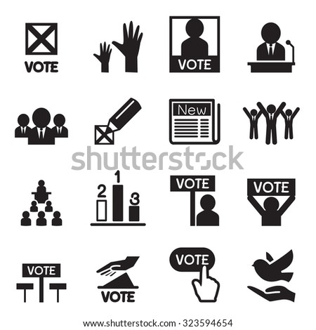 Democracy icons set Vector illustration - stock vector