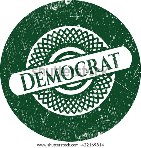 Democrat grunge seal - stock vector