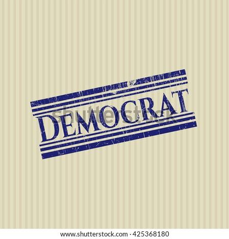 Democrat grunge stamp - stock vector
