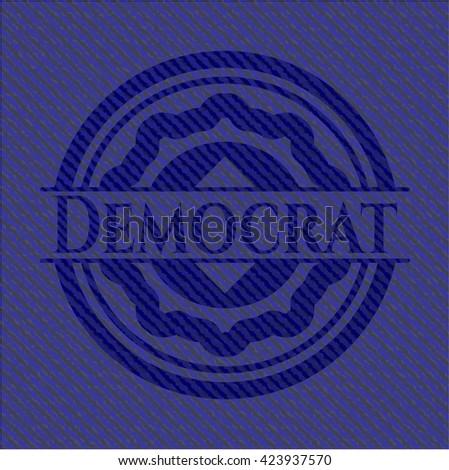 Democrat jean background - stock vector
