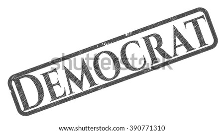 Democrat penciled - stock vector