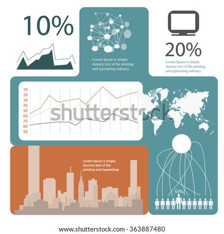 demographic statistic, infographics template - stock vector