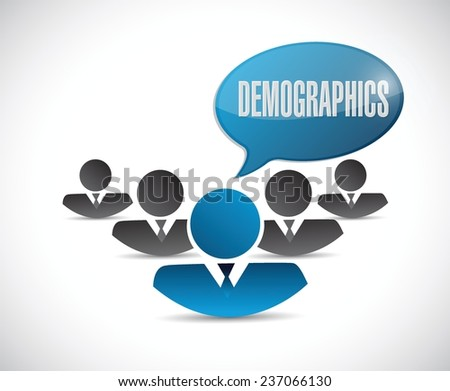 demographics people sign illustration design over a white background - stock vector